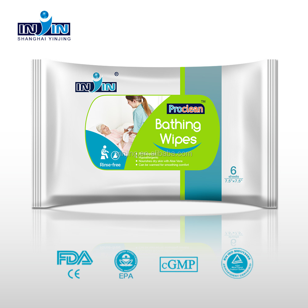 cleansing wipes No-rinse deodorizing & cleaning bathing wipe with CE certificate