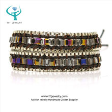 304 High Polishing Stainless Steel Curved Clasp Make Beaded Bracelet
