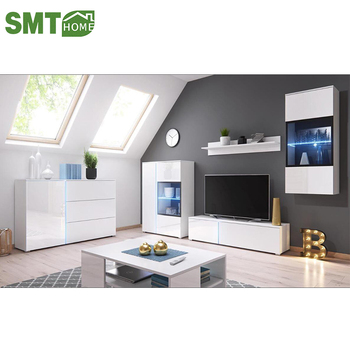 Modern Led White High Gloss Tv Stand