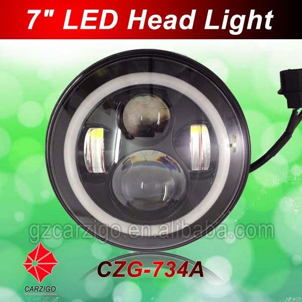 Best quality IP68 certification DC 12v 24v for 97-06 for jeep wranglerr tj 7 inch LED headlight