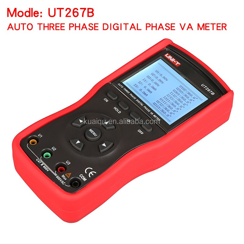 Auto Three Phase Digital Clamp Phase Meters Va Voltammeter Power Meter UNI-T UT267B w Phase Sequence Tester Instruments