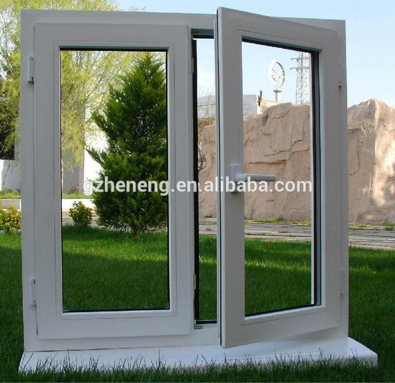 Guangzhou pvc ventana abatible blanco vidrio doble for Cotizacion aluminio argentina