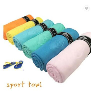 china products cheap custom logo customized sports travel suede personalized microfiber gym towel with pocket