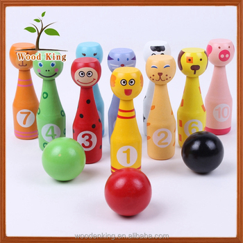 Children Lotus Wood Baby Outdoor Casual Wooden Toys Cartoon Animal Kids  Winsome Game Set Human Mini Wholesale Bowling Balls - Buy Wholesale Bowling