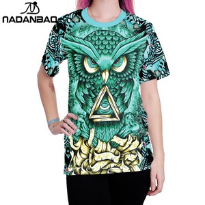 8690279be Owl Print Shirt, Owl Print Shirt Suppliers and Manufacturers at Alibaba.com