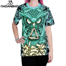men t-shirt Wolf print Nadanbao alibaba europe with women clothing factories in china