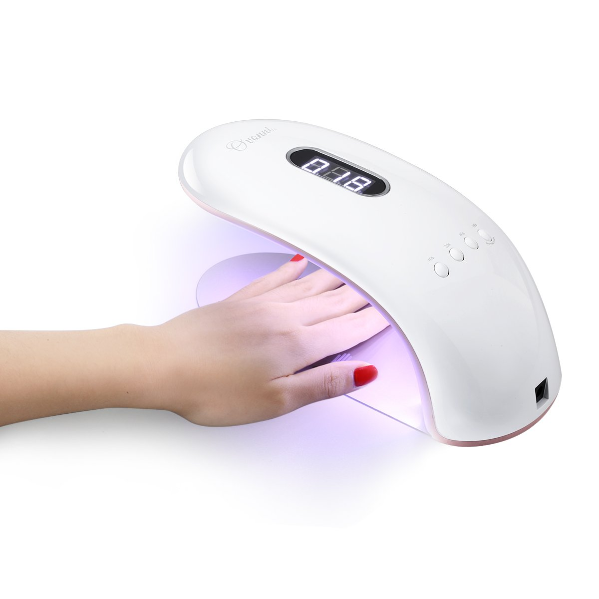 Ovonni LED UV Nail Dryer, 36W Nail Lamp with 4 Timer Setting 10s/30s/60s/99s for All Gel Polishes, Automatic Sensor For Gel Nails and Toe Nail Curing, White