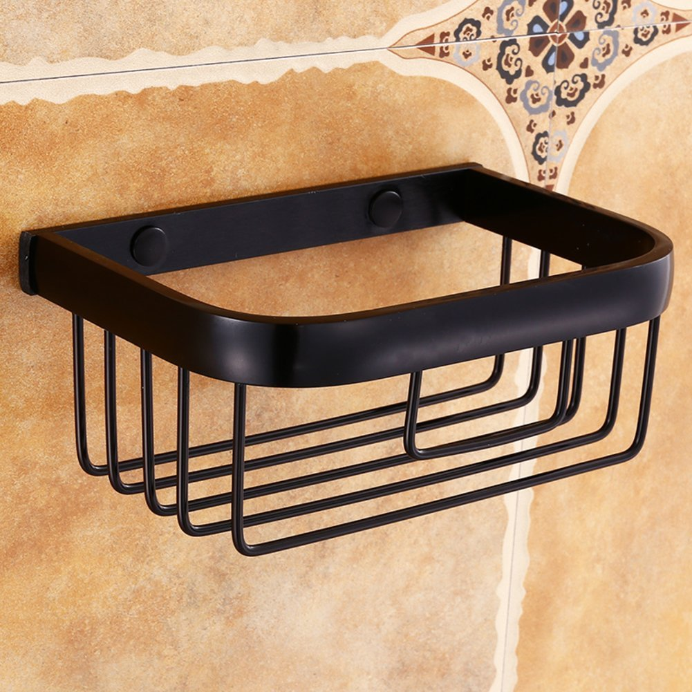 TY&WJ Wall mount Tissue Toilet paper holder,Tissue paper roll Dispenser Bathroom Tissue holder Metal-black