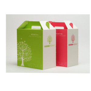 Custom Printed Different Sized Fried Chicken Packaging Box With Handle