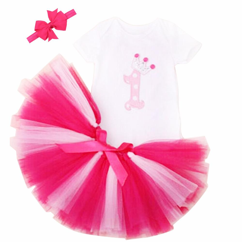 1st Birthday Romper Tutu Set Dresses Baby Girls', Onesie