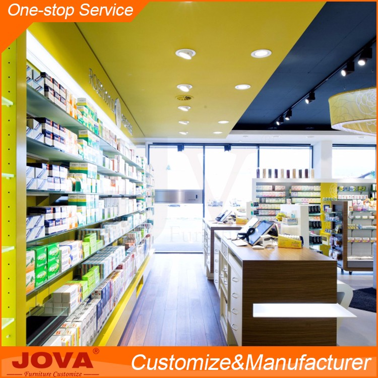 High quality pharmacy counter rack shelves furniture store display rack for medical  store counter design. High Quality Pharmacy Counter Rack Shelves Furniture Store Display