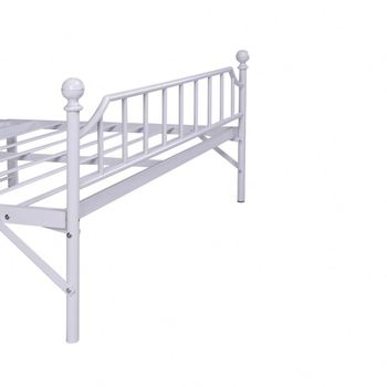 High end white double bed frame