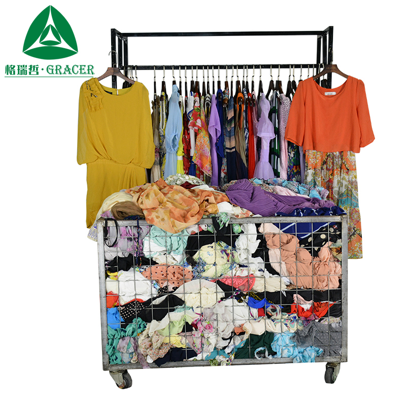 Hot sale second hand dress women wholesale used clothing in south korea