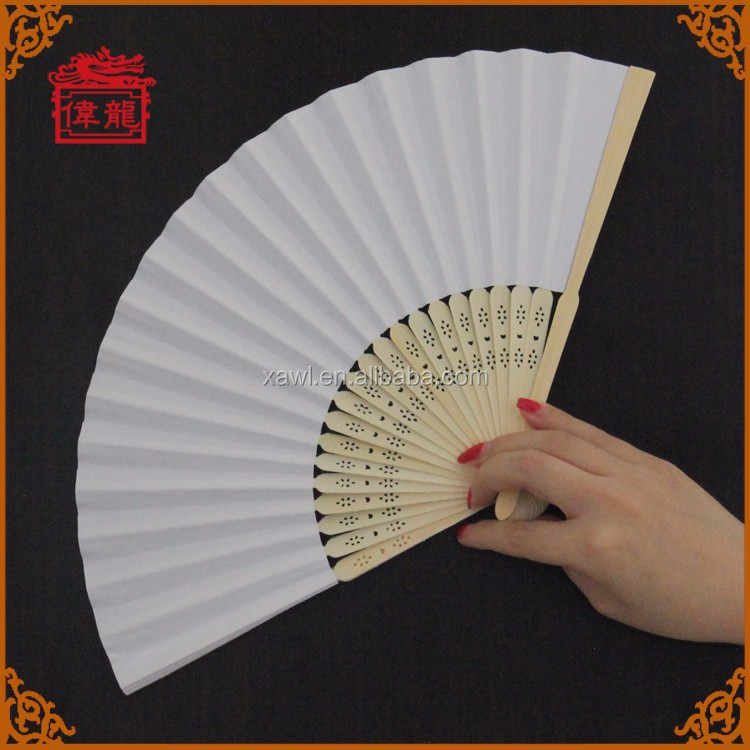 Customized Wedding Program Chinese Bamboo Paper Hand Fans GYS914-1