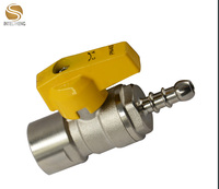 NPT lead free water oil and gas brass ball valve