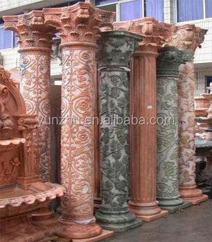 Beautiful Stone Pillars Colorful Stone Pillars Hand Carved