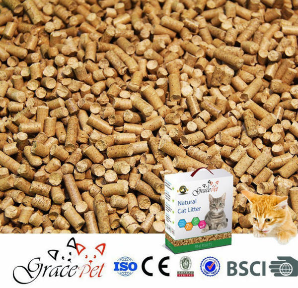 Grace Pet New Product OEM 2014 Free Sample Pure Pine wood pellet cat litter
