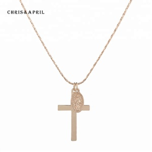 Christianity Cross Alloy Coin Necklace Jewelry Pendant