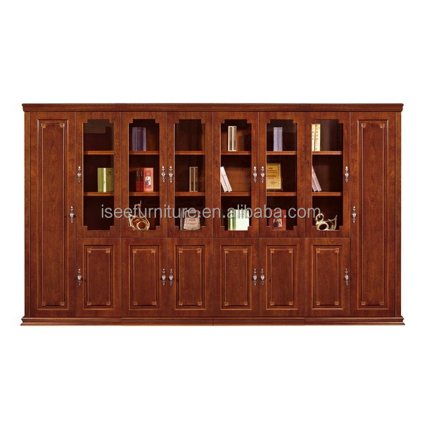 Guangdong luxury bookcase MDF office furniture office cabinet with painting IF010