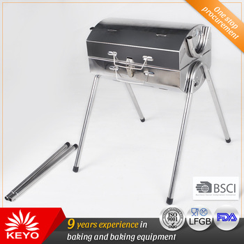 Brother Charcoal Portable Stainless Steel Barrel Bbq Cylinder Barbecue Grill