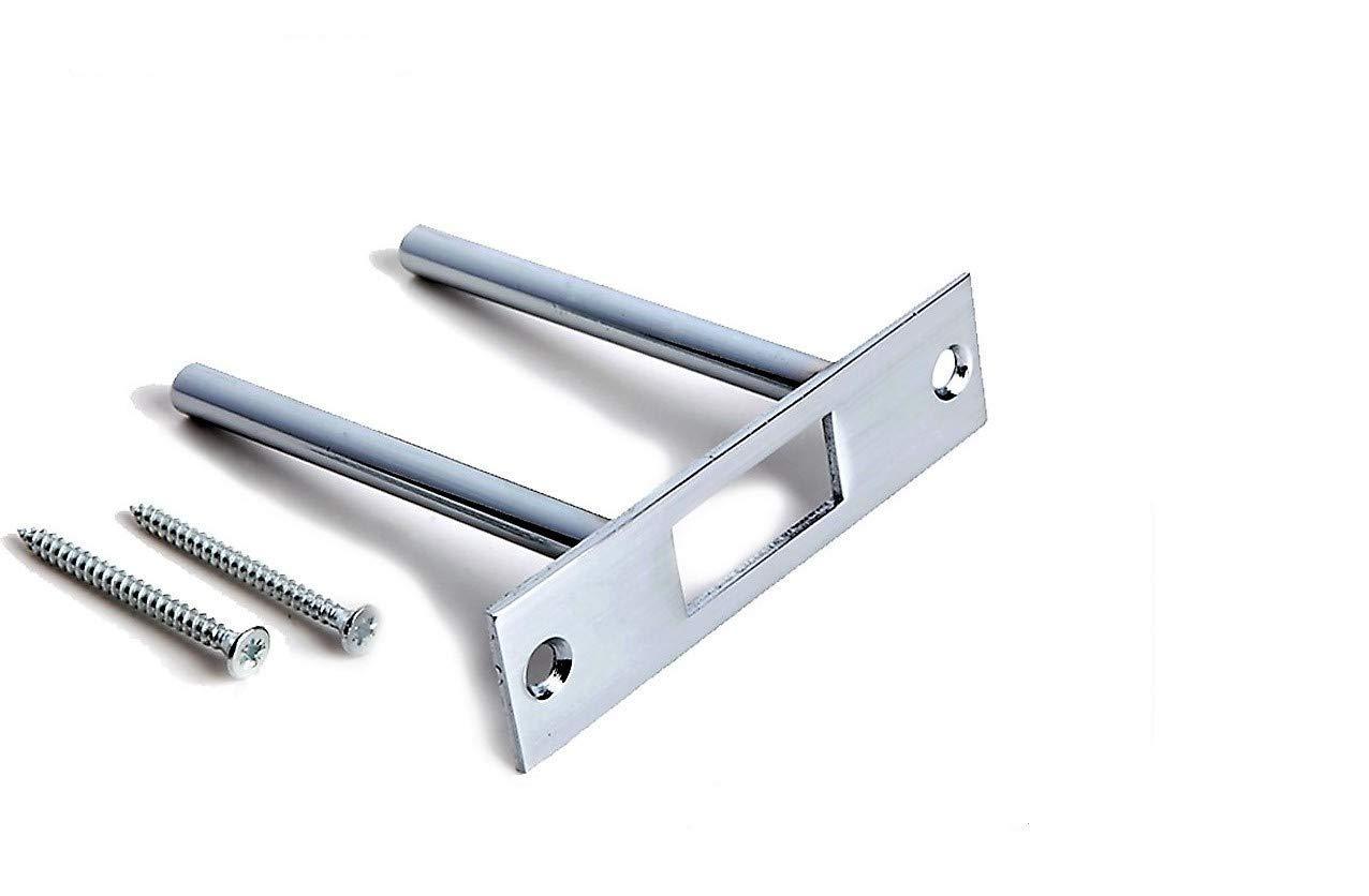 Door Reinforcement | Deadbolt Strike Plate Reinforcer | High Security Door Jamb | Front Door Armor Security | Door Frame Repair, Strengthen and Protect | Two Post Strike Plate Door Reinforcement | Tuff Strike