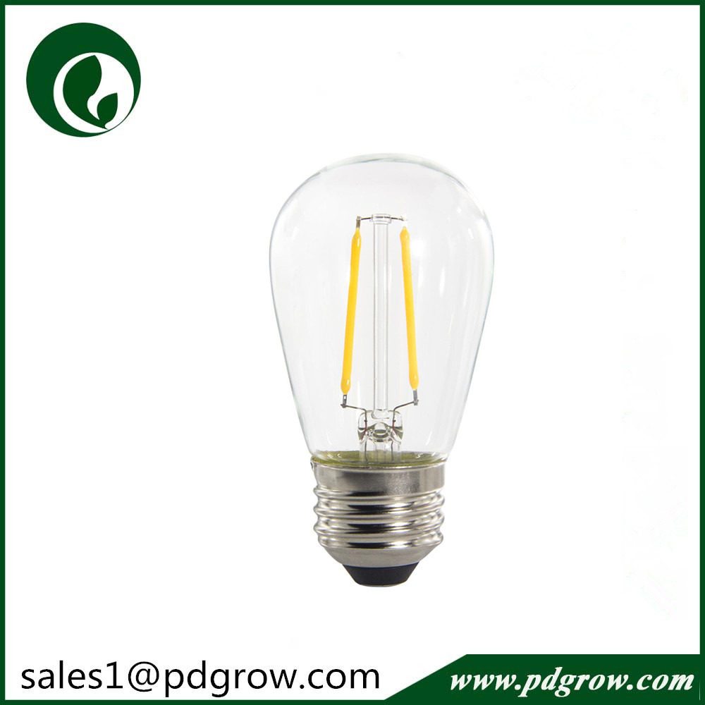 2700K 120V E26 1.5W led filament bulb ,150LM S14 led bulb ,CRI>80 PF>0.8