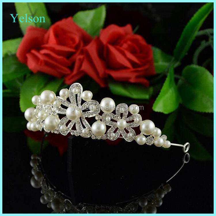 Factory wholesale ladies designer pageant hairband fashion miss world crown and tiara