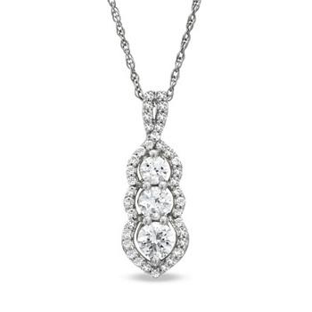 Three stone past present future pendant necklace love jewelry buy three stone past present future pendant necklace love jewelry aloadofball Gallery
