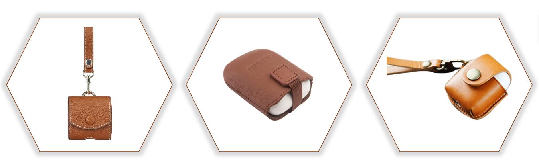 LOGO personalizzato Custodia In Pelle per Apple Air Baccelli Del Sacchetto, Custodia protettiva per aria baccelli, custodia in pelle Per Apple Air baccelli Casella di Ricarica