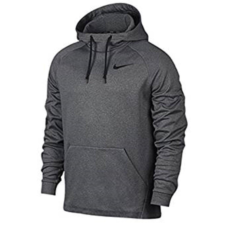 Mens Nike XL Dark Gray Neon Black Pullover Hoodie