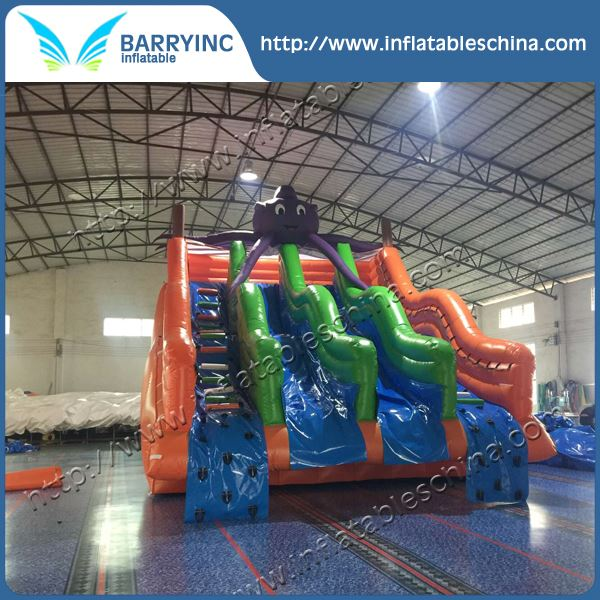 Hot sale water park octopus giant inflatable water slide for adult