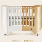 Elizabeth Nordic style design Natural color solid pine wood baby crib, wooden baby bed, playpen baby cot