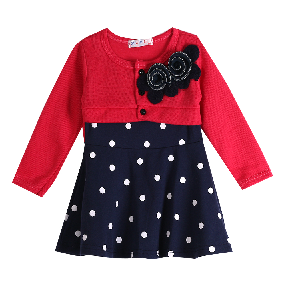 Toddler Baby Kids Girls font b Dress b font Princess Party Long Sleeve Tulle Polka Dot