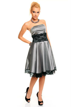 Dress Mayaadi Deluxe Hs-213 Grey-black - Buy 09121293 Product on ... c47db0d54