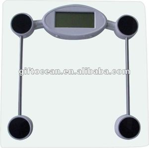 6mm square fashion tempered glass electronic healthy scale