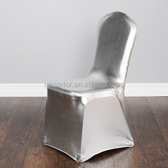 Metallic Silver Banquet Stretch Chair Cover.jpg