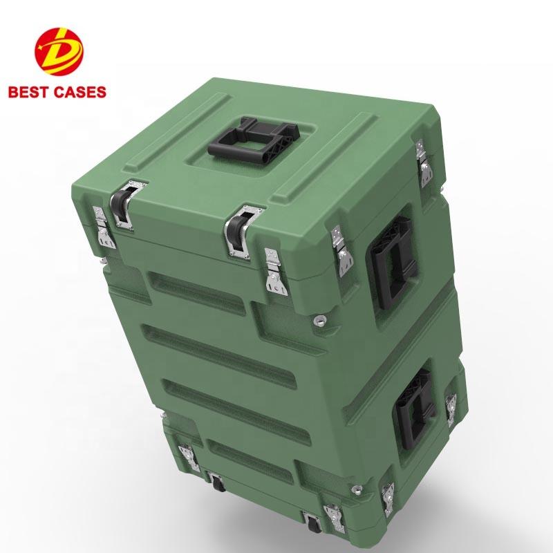 High quality waterproof military transport 8U rack mount computer case