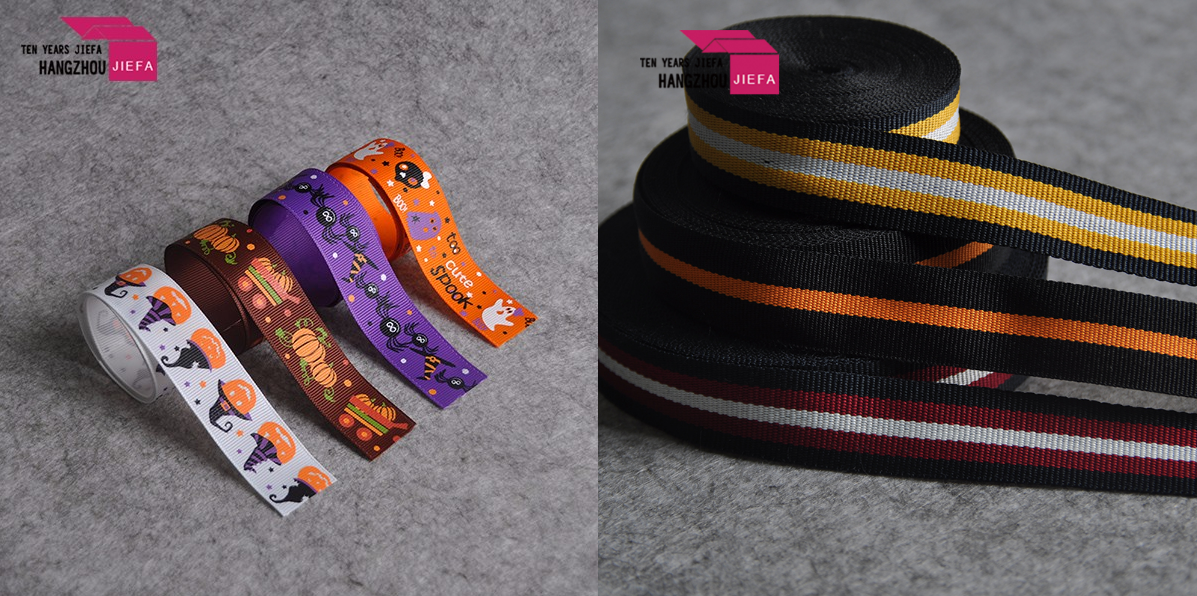 Custom size/color wholesale printed polyester satin ribbon tape