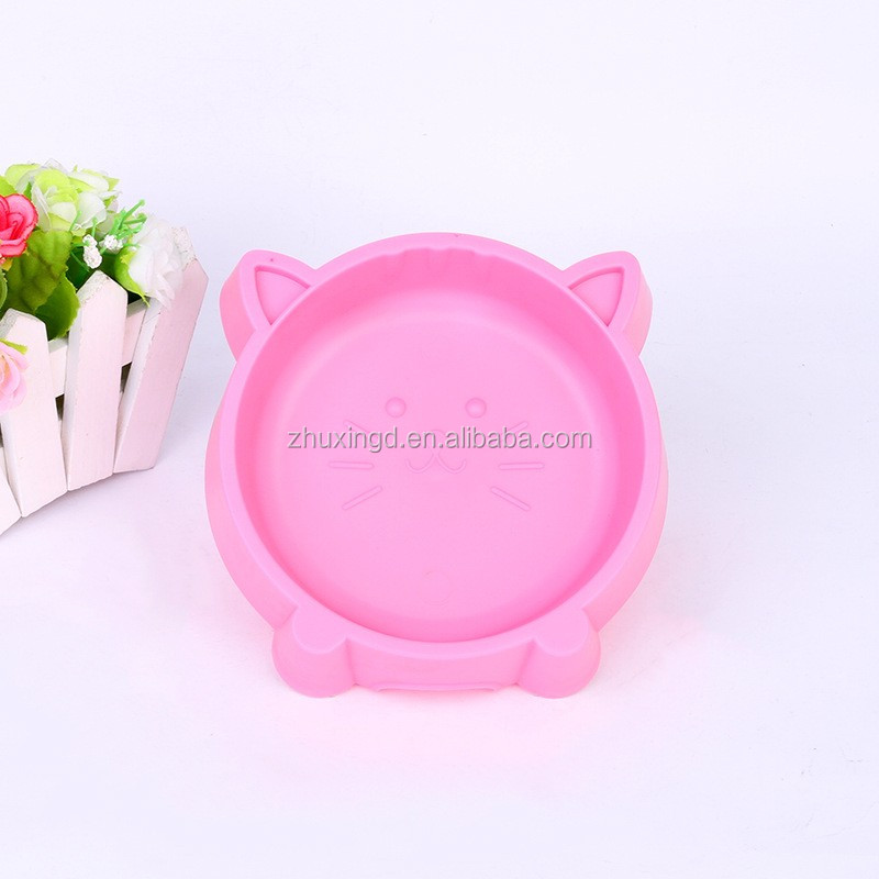 Wholesale pet plastic bowls, cute pet bowls, dog silicone bowl