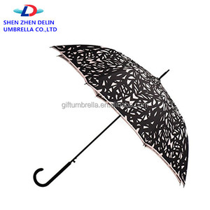 New Design Full print straight umbrellas Auto open hong straight umbrella with Strong Handle