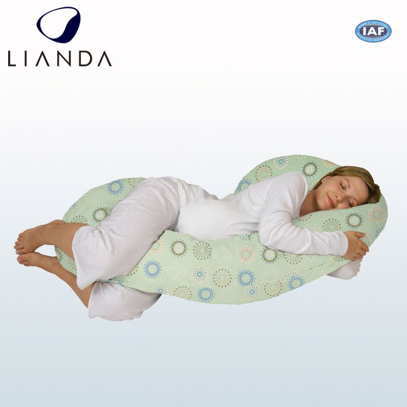 Hyperallergenic 100% cotton pregnant pillow, bamboo side sleeper pillow, plush pregnant pillow