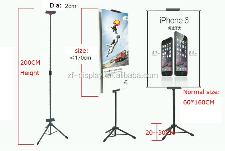 Metal/Aluminum Easel Tripod Poster Stand China Supplier