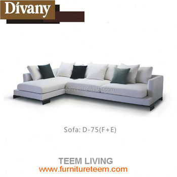 Divany Modern Style High Back Sectional Sofa Leather Trend Extra Large
