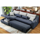 Quality transformer fabric hide a bed sofa with storage