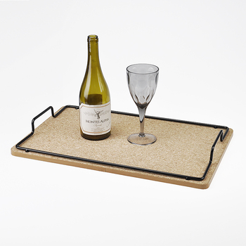 Household Rectangle Small Cork Tray Serving