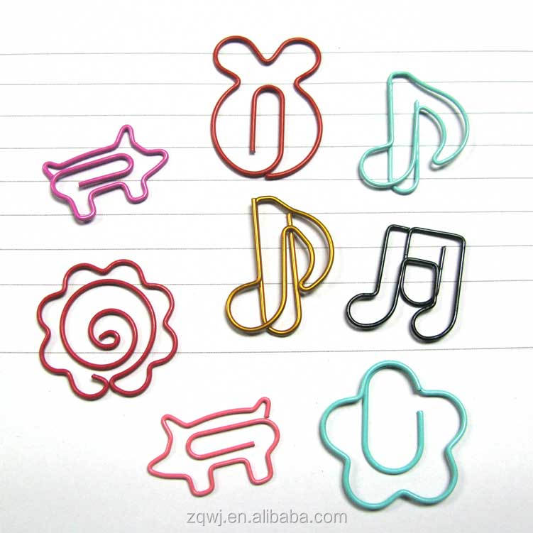 fancy music symbol shaped wire holders paper clips for festival wedding gift sets, 10pcs per oppbag