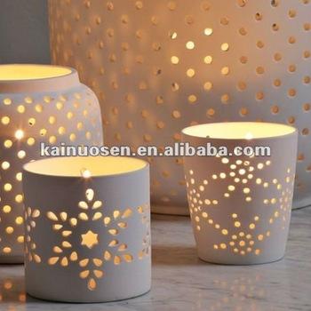 Marvelous Porcelain Tealight Holder, Ceramic Candle Holder