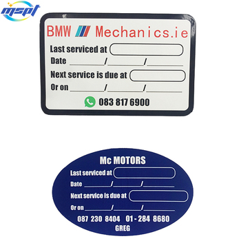 Custom 2 Side Printed One Side Writable One Side Adhesive Labels For Oil Change Buy Oil Change Labels Custom 2 Side Priting Label Stickers Custom