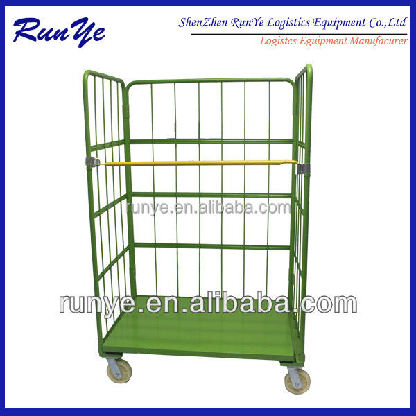 Manufacturer price Security Warehouse Folding Metal Logistic Table Trolley