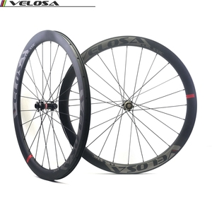 Velosa CX45 Clincher Road Disc Brake carbon fiber wheelset,700C 45mm hookless cyclocross Gravel wheel,tubeless compatible